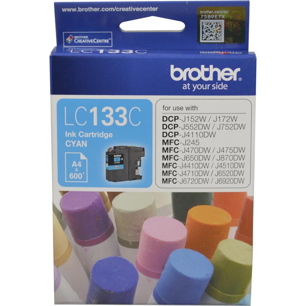 Brother LC133C Ink Cartridge Cyan