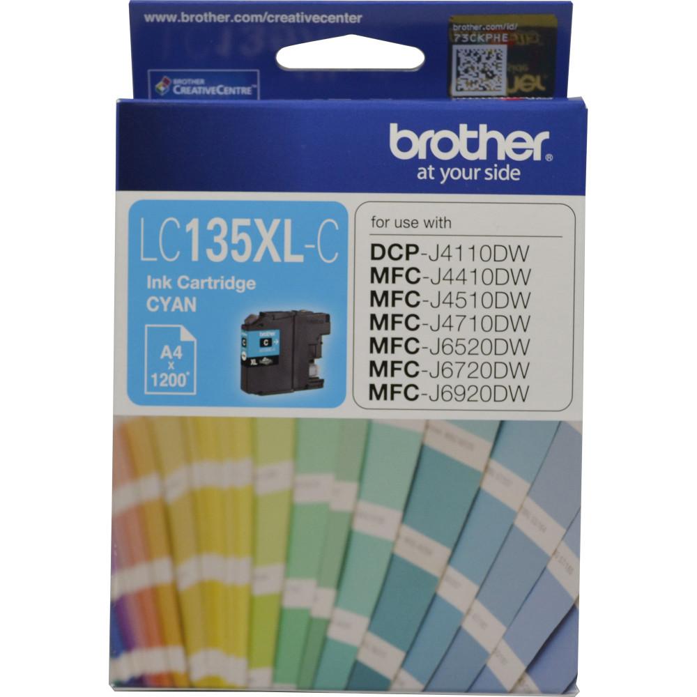 Brother LC135XLC Ink Cartridge High Yield Cyan