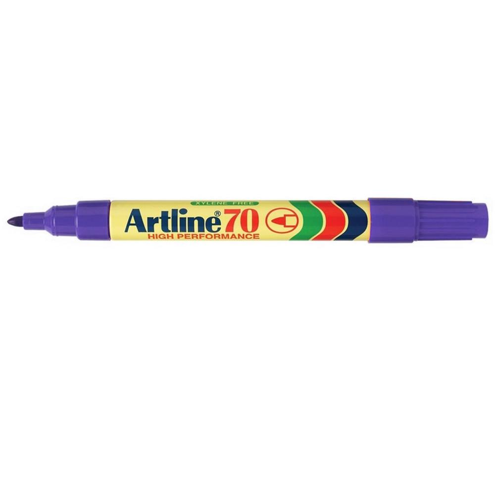 Artline 70 Permanent Marker Bullet 1.5mm Purple Pack Of 12