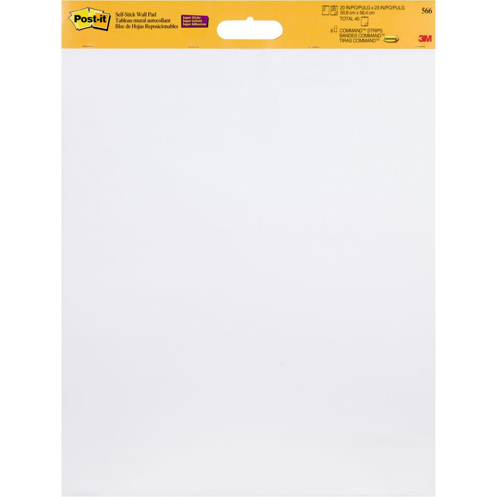POST-IT 566 WALL PAD 508mm x 584mm 40 Sheets Pack