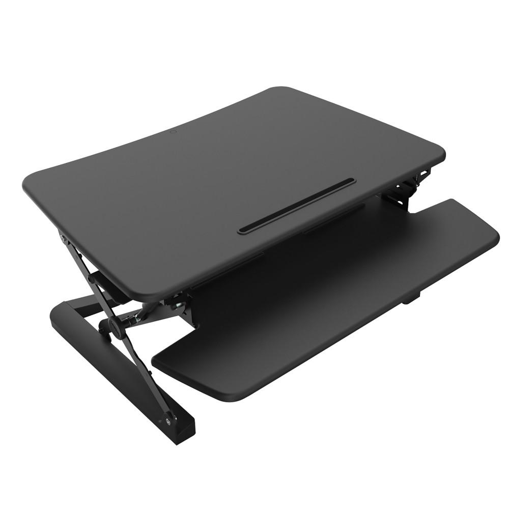 Rapid Riser Manual Lift Desk Top Sit Stand Unit 890Wx590mmD Single or Dual Monitor Black