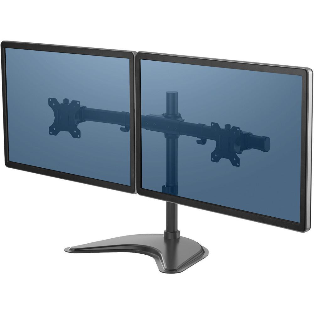 Fellowes Free Standing Monitor Arm Professional Series Dual Horizontal Mount Black
