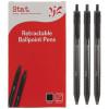 Stat Retractable Ballpoint Pen Medium 1mm Black