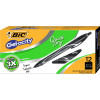 BIC GELOCITY GEL PEN Retractable 0.7mm Medium Black Pack of 12