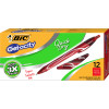 BIC GELOCITY GEL PEN Retractable 0.7mm Medium Red Pack of 12