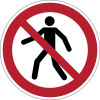 DURABLE SAFETY SIGN - PEDESTRIANS PROHIBITED Red