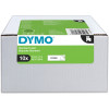 DYMO D1 LABEL CASSETTE TAPE 12mm x 7m Black on White Value Pack of 10