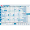 Sasco Year Planner 610x870mm White/Blue