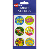 Avery Merit Stickers Brights Pk96 Flatpack