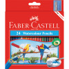 Faber-Castell Watercolour Pencils With Sharpener Assorted Pack of 24