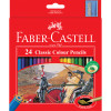 Faber-Castell Classic Colour Pencils Assorted Pack of 24