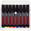 Uni PM126 Prockey Permanent Marker Chisel 5.7mm Assorted Wallet of 8