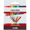 Columbia Coloursketch Coloured Pencil Round Half Length Assorted Pack Of 12