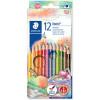 Staedtler Noris Triplus Colour Pencils Triangular Slim Assorted Pack of 12