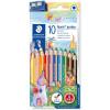 Staedtler Noris Triangular Coloured Pencils Jumbo Assorted Pack of 10