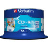 Verbatim Recordable CD-R 80Min 700MB 52X Printable Inkjet  Pack of 50 White