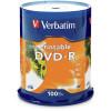 Verbatim Recordable DVD-R 120Min 4.7GB 16X Printable Inkjet Pack of 100 White