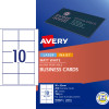 Avery Business Cards Laser Inkjet Labels L7414  90x52mm Matt White 200 Cards 20 Sheets