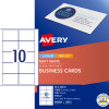 Avery Business Cards Laser Inkjet Label L7415 90x52mm White 1000 Cards 100 Sheets
