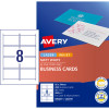 Avery Business Cards Laser  Inkjet Double Sided Labels Matt White 200 Cards 25 Sheets