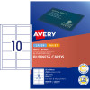 Avery Business Cards Laser Inkjet Labels C32011 Matte White 250 Cards, 25 Sheets