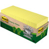 Post-It 654R-24CP-CY Greener Note Cabinet Pack 76x76mm Recycled Yellow Pack of 24