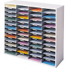 Fellowes Literature Organiser 48 Compartment w972xh881x d302mm Grey
