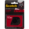 Scotch RF6731 Extreme Fastener Strips 2.5x7.6cm Black Pack of 2