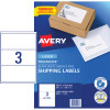 Avery Shipping Laser Labels L7155 200.7x93.1mm White Pack of 100 (300)