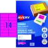 Avery High Visibility Shipping Laser Labels L7163FP 99.1x38.1 Pink 350 Labels, 25 Sheets