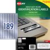 Avery Heavy Duty Laser Labels L6008 25.4x10 mm Silver 3780 Labels, 20 Sheets