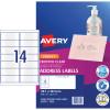 Avery Quick Peel Address Laser Inkjet Labels J8563 99.1x38.1 Clear 350 Labels, 25 Sheets