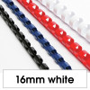 Rexel Plastic Binding Comb 16mm 145 Sheet Capacity White Pack of 100