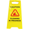 Cleanlink A-Frame Safety Sign Cleaning In Progress 320x310x650mm Yellow
