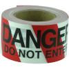 Maxisafe Barricade Tape DANGER DO NOT ENTER Black On Red/White 75mm x 100m