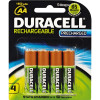 Duracell Rechargeable Battery AA Precharged Pack of 4