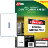 Avery Industrial Labels Heavy Duty L7067 White Pack of 10