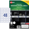 Avery Heavy Duty Removable Laser Labels L4716 30mm Round White 960 Labels, 20 Sheets