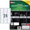 Avery Heavy Duty Removable Laser Labels L4773 63.5x33.9mm White 480 Labels, 20 Sheets