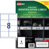 Avery Heavy Duty Removable Laser Labels L4715 99.1x67.7mm White 160 Labels, 20 Sheets