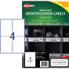 Avery Heavy Duty Removable Laser Labels L4774 99.1x139mm White 80 Labels, 20 Sheets