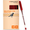 Bibbulmun Ballpoint Pen Medium 1mm Red Pack of 12