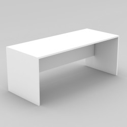 Om Melamine Straight Small Desk 720Hx1200Wx750mmD All White