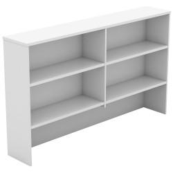 Om Melamine Desk Hutch 1080Hx1200Wx325mmD 4 Shelf All White