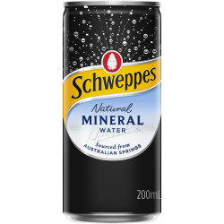 Schweppes Natural Mineral Water 200ml Bottle Pack of 24