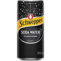 Schweppes Soda Water 200ml Bottle Pack of 24