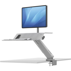 FELLOWES LOTUS RT SIT STAND Workstation Single Monitor White