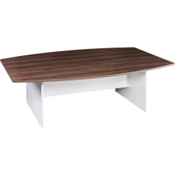 Om Premiere Boardroom Table With H Base 720Hx2400Wx1200mmD Casnan White