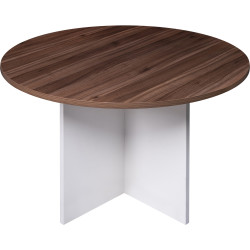 Om Premiere Meeting Table Round Top 720Hx900mm Diam. Casnan White