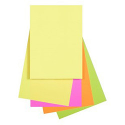 Quill Colour Copy Paper A4 80gsm Fluoro Assorted Pack of 250